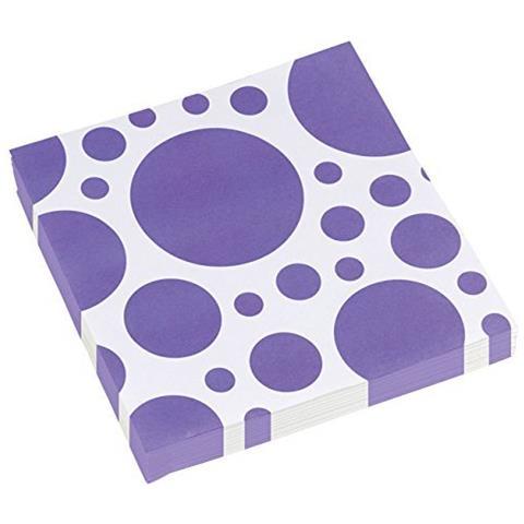 GIOCOPLAST Solid Colour Dots Purple - 20 Tovaglioli 33x33cm
