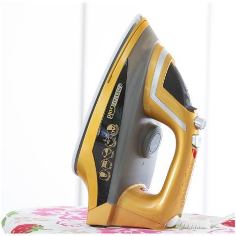 MEDIASHOPPING Stira Gold HM497031 Ferro da Stiro a Vapore Portenza 2200 Watt Colore Oro
