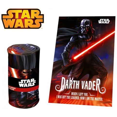 Star Wars Sw92242 Coperta In Morbido E Caldo Pile Darth Vader 100 X 150 Cm Plaid