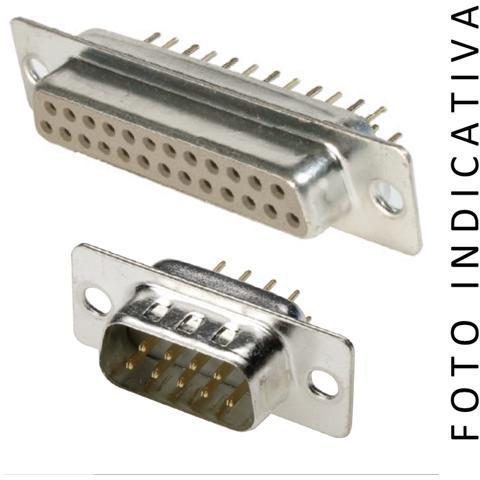 C-Industries Connettore D-sub Con Contatto Stampato 25 Poli Maschio