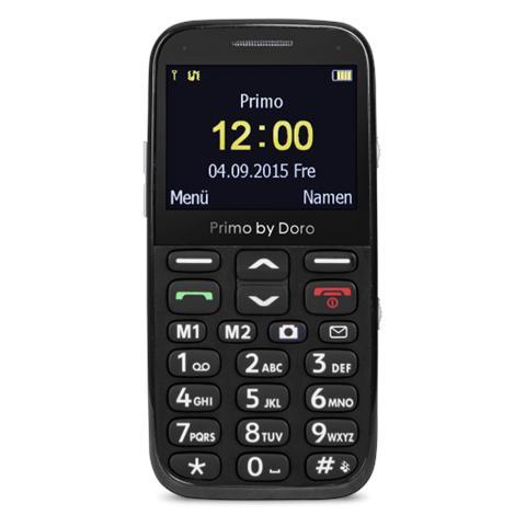 """Doro Primo 366 Nero Display 2.3"""" +Slot MicroSD Bluetooth e Fotocamera - Italia"""