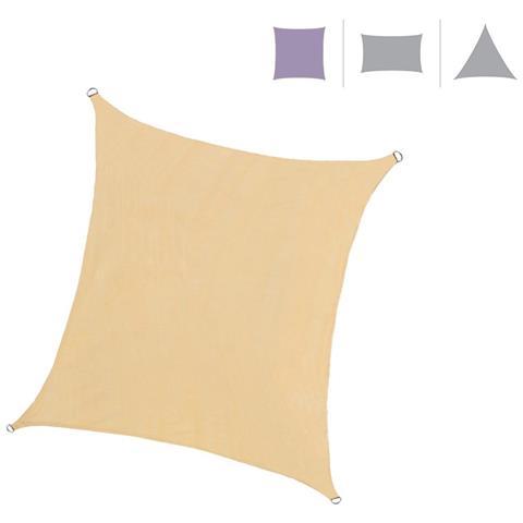 Rebecca Mobili Vela Ombreggiante Tenda Quadrata Beige Outdoor Protezione Uv Piscina Barca Giardino 5x5