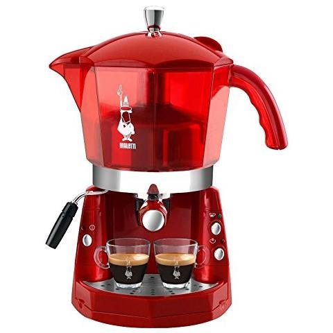 CF40 Mokona Macchina Caffè Espresso Manuale Capacità Serbatoio 1,5 Potenza 1050 Watt Colore Rosso