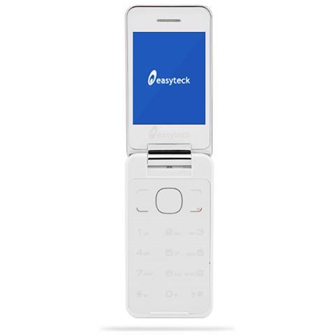 "EASYTECK F200 a Flip Dual Sim Display 2.8"" Bluetooth Radio Fotocamera Colore Bianco"