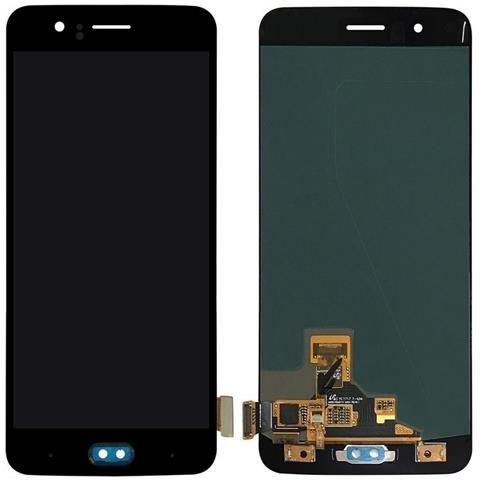 Image of Lcd Touch Screen Vetro Vetrino Con Flex Cable Nero Per Oneplus 5 + Kit