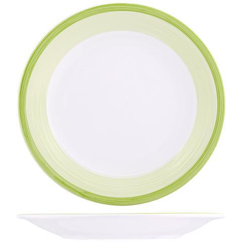H&H Piatto Ceramica Capri Verde Piano Cm26 Stoviglie