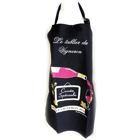 creatore grembiule 'le tablier du vigneron' nero - [ n4807]