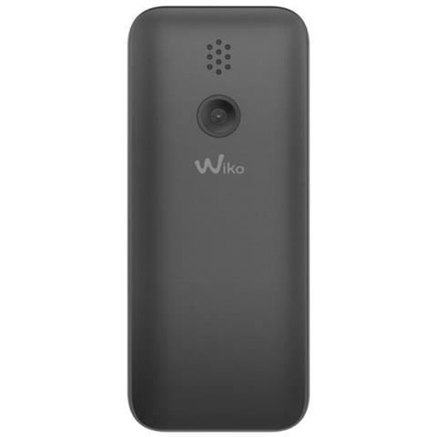"""WIKO Lubi 5 Cellulare Dual Sim Display 1.8"""" + Slot Micro SD Fotocamera 0.3Mpx RadioFM e Bluetooth Colore Nero - Italia"""