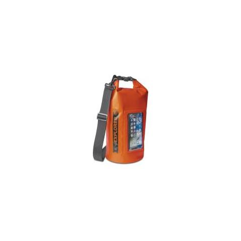 CELLY Borsa Impermeabile Explorer 5L con Tasca per Smartphone da 6.2'' Colore Arancione