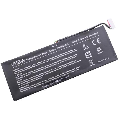 Image of Li-polimero Batteria 3650mah (7.2v) Nero Per Laptop Notebook Come Toshiba Pa5209u-1brs