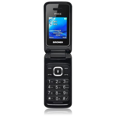 """BRONDI Fox Nero Dual Sim Display 1.77"""" +Slot MicroSD Bluetooth Fotocamera 1.3Mpx - Italia"""