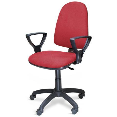 bricobravo Poltrona Sedia Ufficio Con Ruote Altezza Regolabile Rossa 301 / t / r