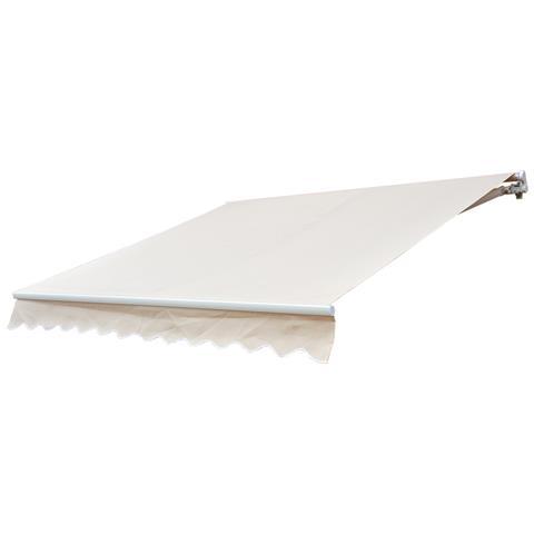 Tenda Da Sole Avvolgibile Parasole A Parete Manuale Impermeabile, Beige, 2.5x2m
