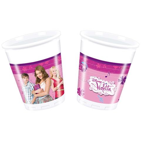 Violetta - 8 Bicchieri Di Plastica