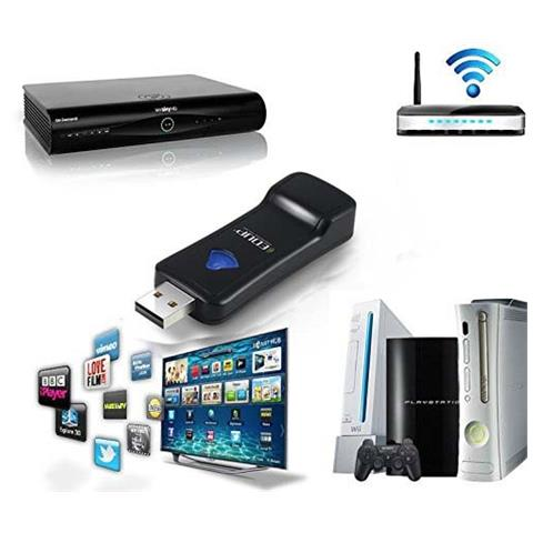 TAKESTOP Antenna Ep-2911 Wireless Per Decoder My Sky Smart Tv Media Player Console Xbox Playstation Dongle