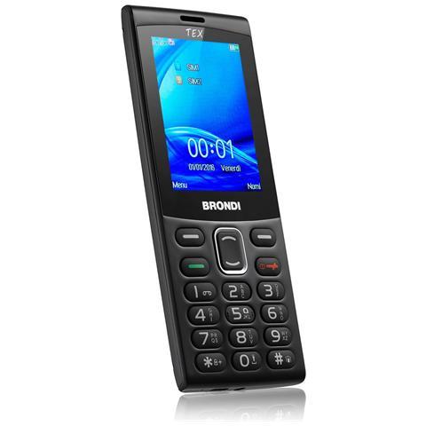 BRONDI Tex Nero Dual Sim Display 2.4'' +Slot MicroSD Fotocamera 1.3Mpx Colore Nero - Italia
