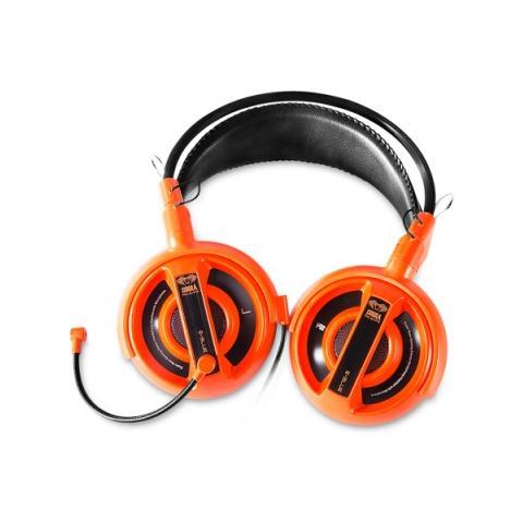 E-BLUE Cobra Stereofonico Padiglione auricolare Arancione cuffia e auricolare