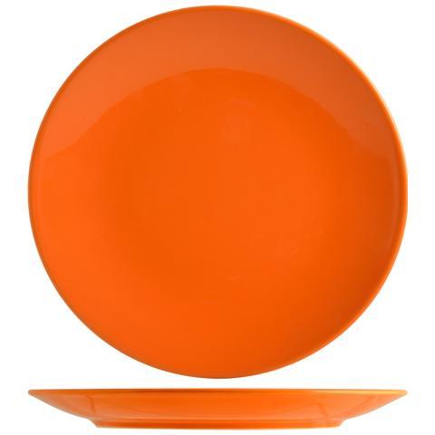 H&H Set 6 Piatto Coupe Iris Arancio Piano 26 Tableware
