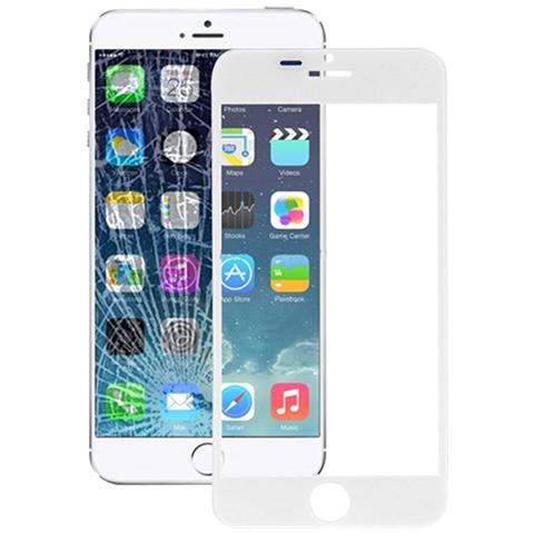 BOMA Schermo Vetro Frontale Ricambio Apple Iphone 6 Plus Con Colla Oca Bianco