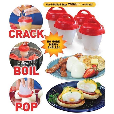 Bollitore Per 6 Uova Sgusciate Cuoci Uova In Silicone Uova Sode Frittata