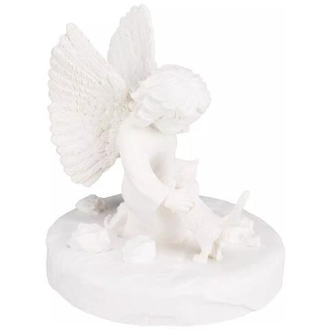 Lapide Commemorativa Per Gatti Con Un Angelo Bianco 38419