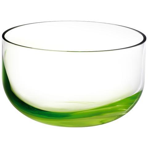 HOME Vaso Vetro Fondo Verde Cm 12,7 20882 Decorazioni