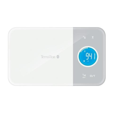Terraillon CKG51350WM, LCD, Grigio, Bianco, AAA, Vetro, 251 x 151 x 18,5 mm