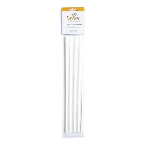 Decora Confezione 25 stecche in carta forno 3,8 x 304mm
