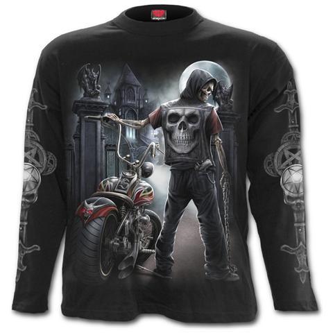 SPIRAL Night Church Longsleeve T-shirt Black (T-Shirt Manica Lunga Unisex Tg. XL)