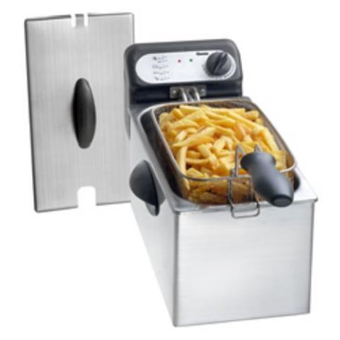 Friggitrice Elettrica Capacità 3 litri 2000 W Colore Argento