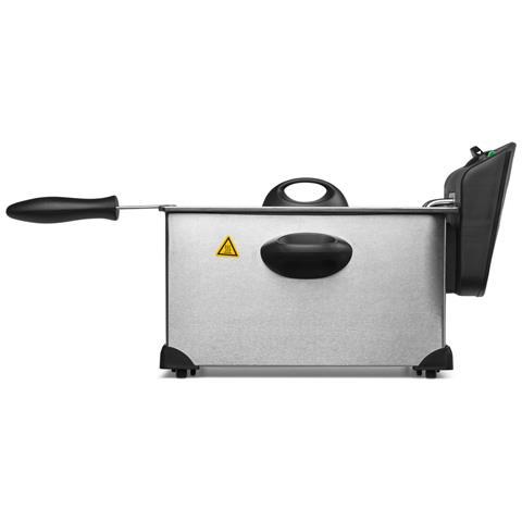 Friggitrice MD18084 Capacità 3L Potenza 2000W Colore Nero e Acciaio inossidabile