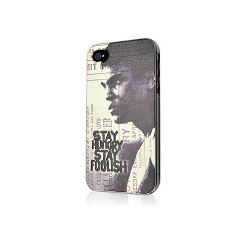 MUVIT Cover Muhammad Ali con logo Stay Hungry Stay Foolish per iPhone 4 e 4s