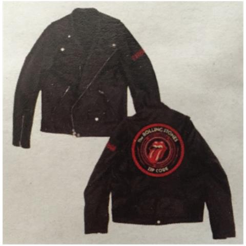 IMPORT Rolling Stones (The) - Zc15 Leather (Giacca Moto Unisex Tg. 2XL)