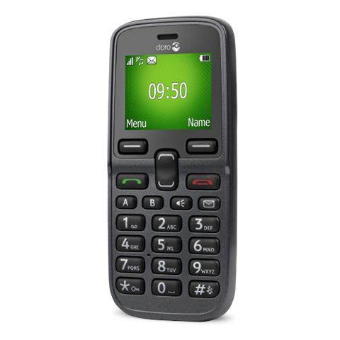 "Doro PhoneEasy 5030 Grigio Display 1.77"" Bluetooth RadioFM - Italia"