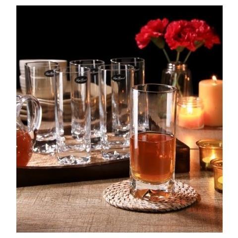 Bicchiere Linea Strauss 28,5cl Finissimo Vetro Cristallino 3 Pezzi Luigi Bormioli - Bibita 39cl