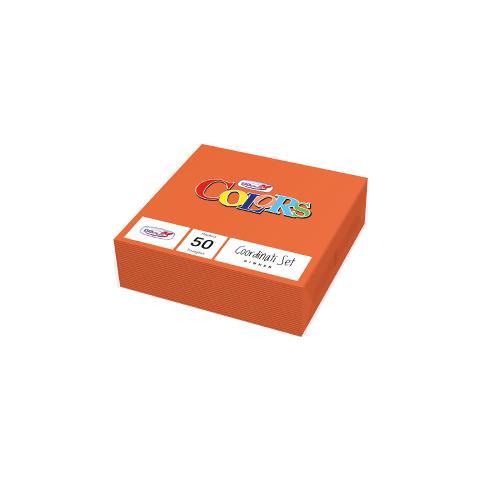 DOpla 50 tovaglioli Carta 33x33cm 2 veli arancione