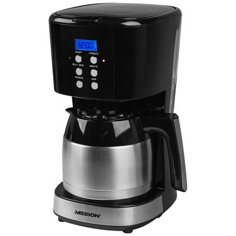 Macchina da Caffè MD 18088 Capacità 1L Potenza 900W Colore Nero e Acciaio Inossidabile