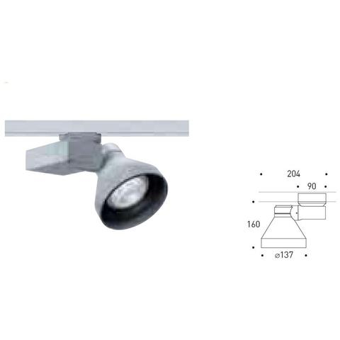 Image of 0. a4838. ww10 - Varios Led Proiettore Orientabile 30w 51gr 3000k Bianco