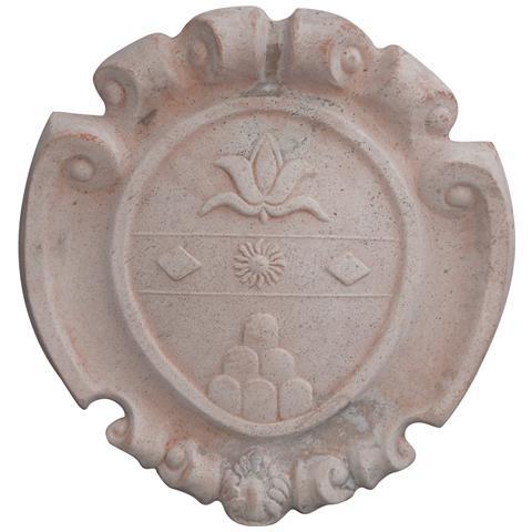 Stemma Araldico Invecchiato In Terracotta Toscana L57xpr9xh60 Cm