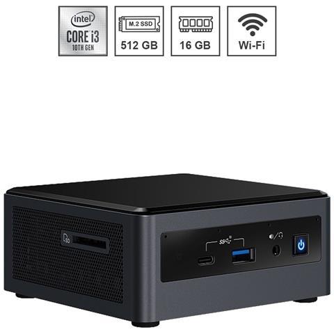Image of Mini Pc Nuc Silver Assemblato Intel I3-10100U 10th gen 4.10 Ghz Ram 16GB SSD 512 GB PCI-e M. 2 Wi-Fi Bluetooth Windows 10 PRO