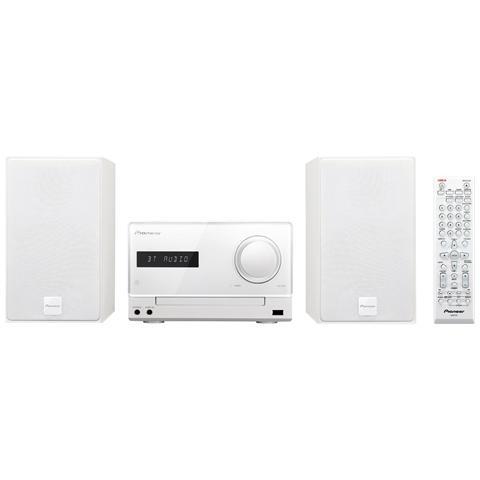 PIONEER Sistema Micro Hi-Fi X-CM35 Lettore CD Supporto MP3 / WMA Potenza totale 30Watt Bluetooth / NFC colore Bianco