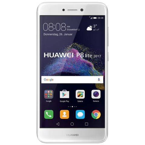 "HUAWEI P8 Lite 2017 Bianco 16 GB 4G / LTE Display 5.2"" Full HD Slot Micro SD Fotocamera 12 Mpx Android Italia"