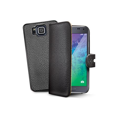 CELLY bk pu wallet case for galaxy alpha