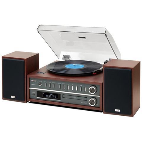 TEAC Giradischi MCD800 Lettore CD Radio FM Ingresso USB colore Marrone