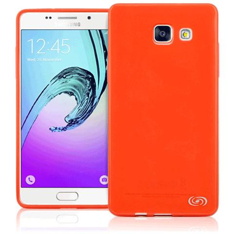 FONEX Inv Cover Ultra Sottile 0,2 mm in Morbido TPU per Galaxy A5 (6) Colore Rosso Trasparente