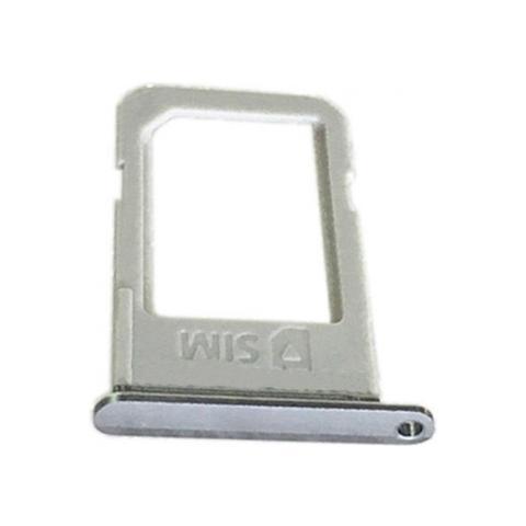 BOMA Slot Tray Holder Porta Sim Card Scheda Samsung S6 Edge + Plus Grigio Argento Vassoio Cassettino