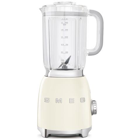 BLF01CREU Frullatore Estetica Anni '50 Capacità 1.5 Litri Potenza 800 Watt Colore Panna