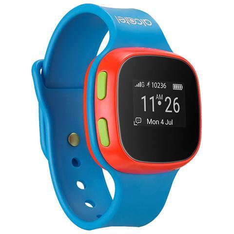 ALCATEL Movie Time Talk Watch Orologio per Bambini con Uso Sim + Localizzazione + Chiamate Rapide Colore Blu - Brand Tim