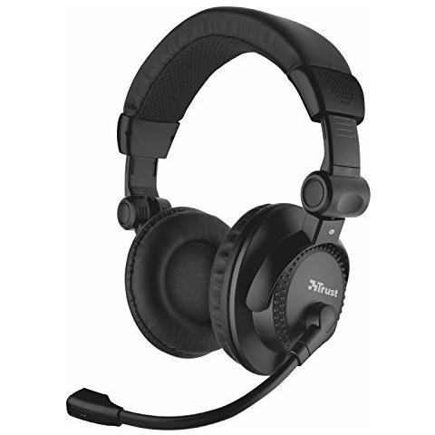 TRUST Como cuffie over-ear con struttura ripiegabile e microfono regolabile