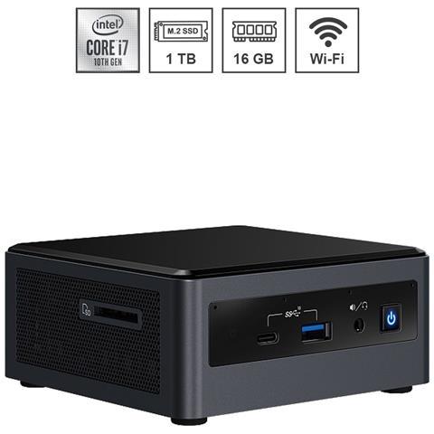 Image of Mini Pc Nuc Platinum Assemblato Intel i7-10710U 10th gen 4.70 Ghz Ram 16GB SSD 1 TB PCI-e M. 2 Wi-Fi Bluetooth Windows 10 PRO